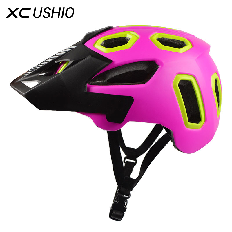 ФОТО Mountain Bike Bicycle Helmet 15 Vents Integrally Molded Helmet Cascos Ciclismo MTB For Adults 58-62cm Accessories for Bicycle