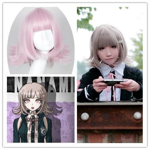 Girls Anime Hair Super Danganronpa 2 Chiaki Nanami Short Curly Party
