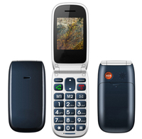 China Clamshell Mobile Flip Phone W72 Senior Elder Old Man Cell Phone Big Button SOS