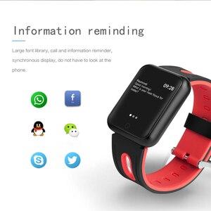 Image 5 - Smart uhr P68 band IP68 wasserdichte smartwatch Dynamische herzfrequenz blutdruck monitor für iPhone Android Sport Gesundheit uhr