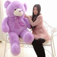 Прекрасный лаванды мишки куклы плюшевые фиолетовый огромный мишка игрушка подарок на день рождения около 160 см