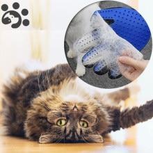 Pet grooming luva para gatos cão escova pente gato hackle animal de estimação escova luva para animal de estimação cabelo luvas para cão grooming