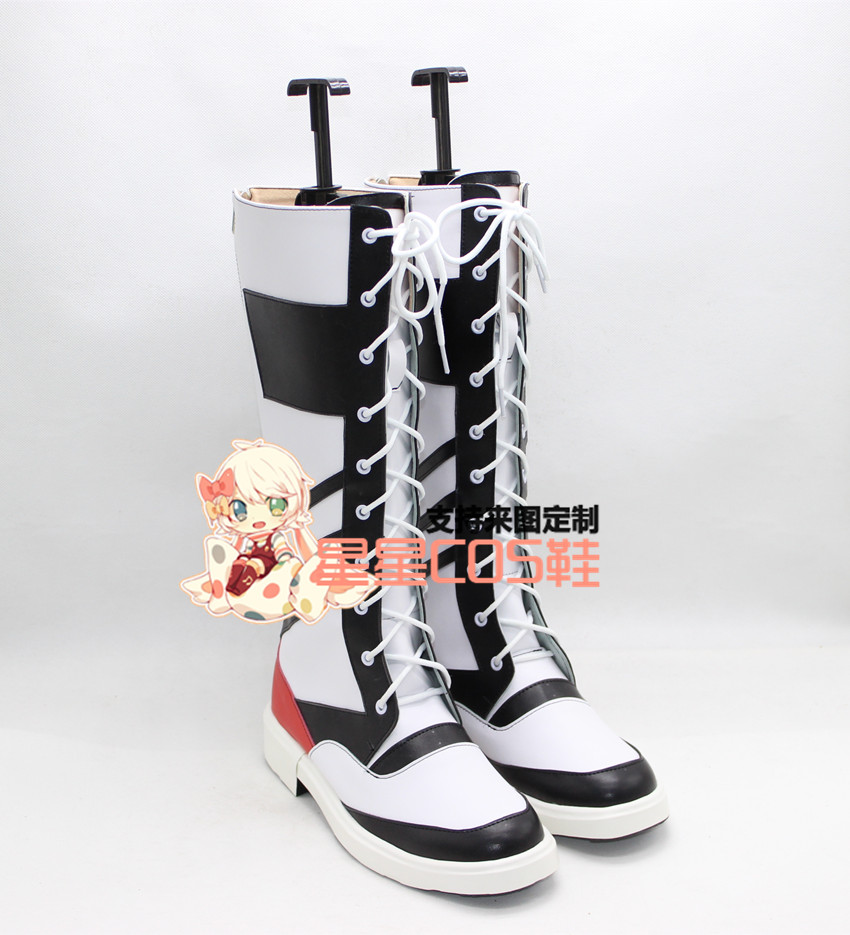 Suicide Squad Harley Quinn Girls Halloween Cosplay Shoes Boots X002