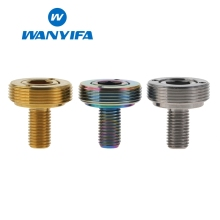 Wanyifa M8 Titanium Bicycle Bottom Bracket Crank Bolt 1pcs M8X15 Bolt+1pcs cover+1pcs gasket все цены