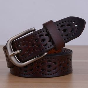 Image 4 - Hot البيع عالية الجودة الفاخرة النساء حزام جلد طبيعي الإناث حزام الخصر دبوس مشبك الأحزمة للنساء سيدة waistband