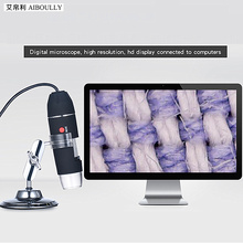 500X Electronic Magnifier Handheld Microscope Usb Microscope Video Magnifier Endoscope Animal Plant Hair Skin Identification metal 75 times table magnifier jade bronze coin identification microscope