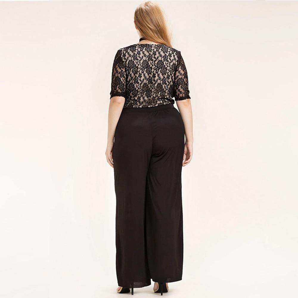 Kissmilk Women Plus Size Beklædning Casual Black Wrap Lace Patchwork - Dametøj - Foto 3