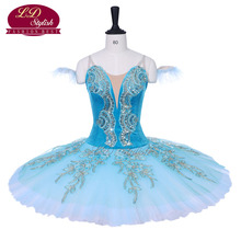New Arrival Blue Professional Ballet Tutu Costumes The Bird Performance Apperal Women Stage Wear Girls Skirt