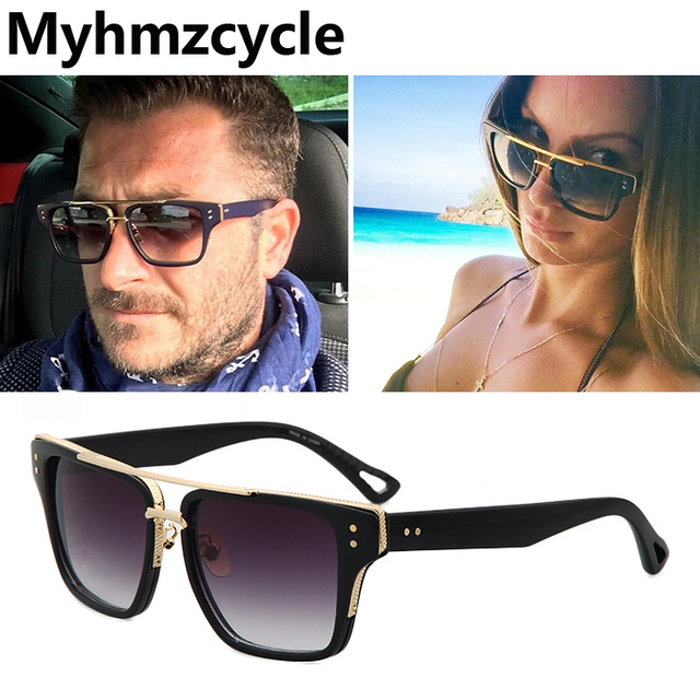 e0168ccc2f1a Myhmzcycle 2017 ltra popular Fashion Vintage Sunglasses Men Women Brand  Designer Square Alloy High quality Sun Glasses Oculos