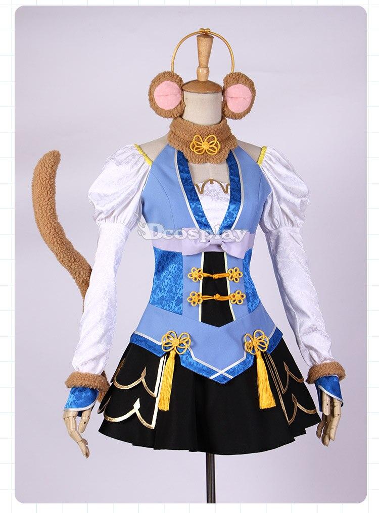 LoveLive! Обезьяна Тодзио Нозоми Косплэй костюм Хэллоуин равномерное Наушники для женщин + платье + хвост + Чулки для женщин + обезьяна