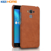 Case For ASUS ZC553KL KEZiHOME Frosted Genuine Leather Hard Back Cover For ASUS ZenFone 3 Max