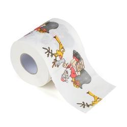 30 м/упак. Санта Клаус и олень Merry Рождество печатных туалетной Бумага дома Для ванной Гостиная Туалет Бумага рулон ткани Рождество Декор