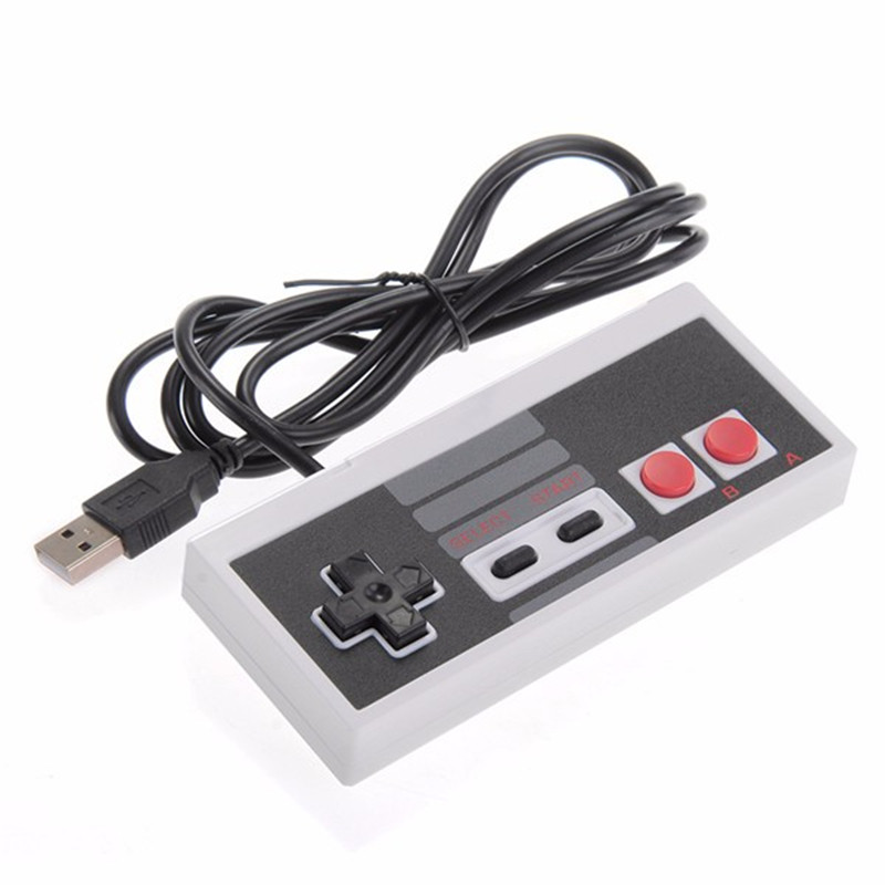 Classic wired usb controller gamepad joystick For NES game console Video Gaming Joypad for PC Mac