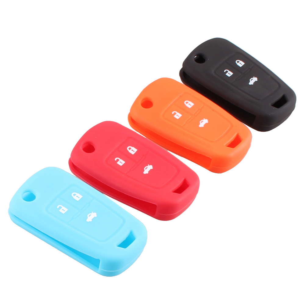 NEW Hot silicone car key cover 3 button for Chevrolet Cruze 2009-2014 sedan hatchback accessories car key cover case