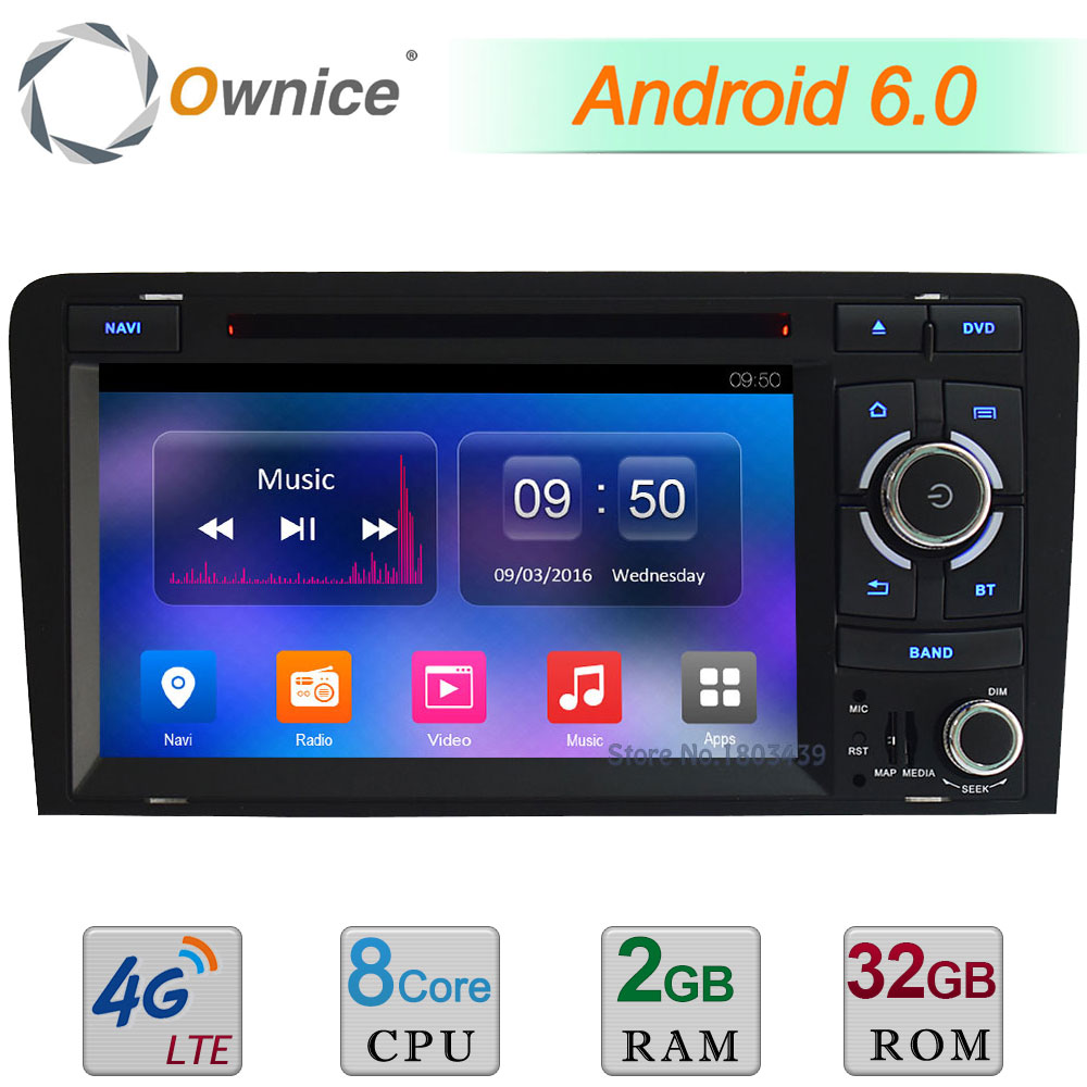 Android 6.0 4G Octa Core 2GB+32GB Car DVD Radio Player For Audi A3 S3 RS3 2003 2004 2005 2006 2007 2008 2009 2010 2011 2012 2013