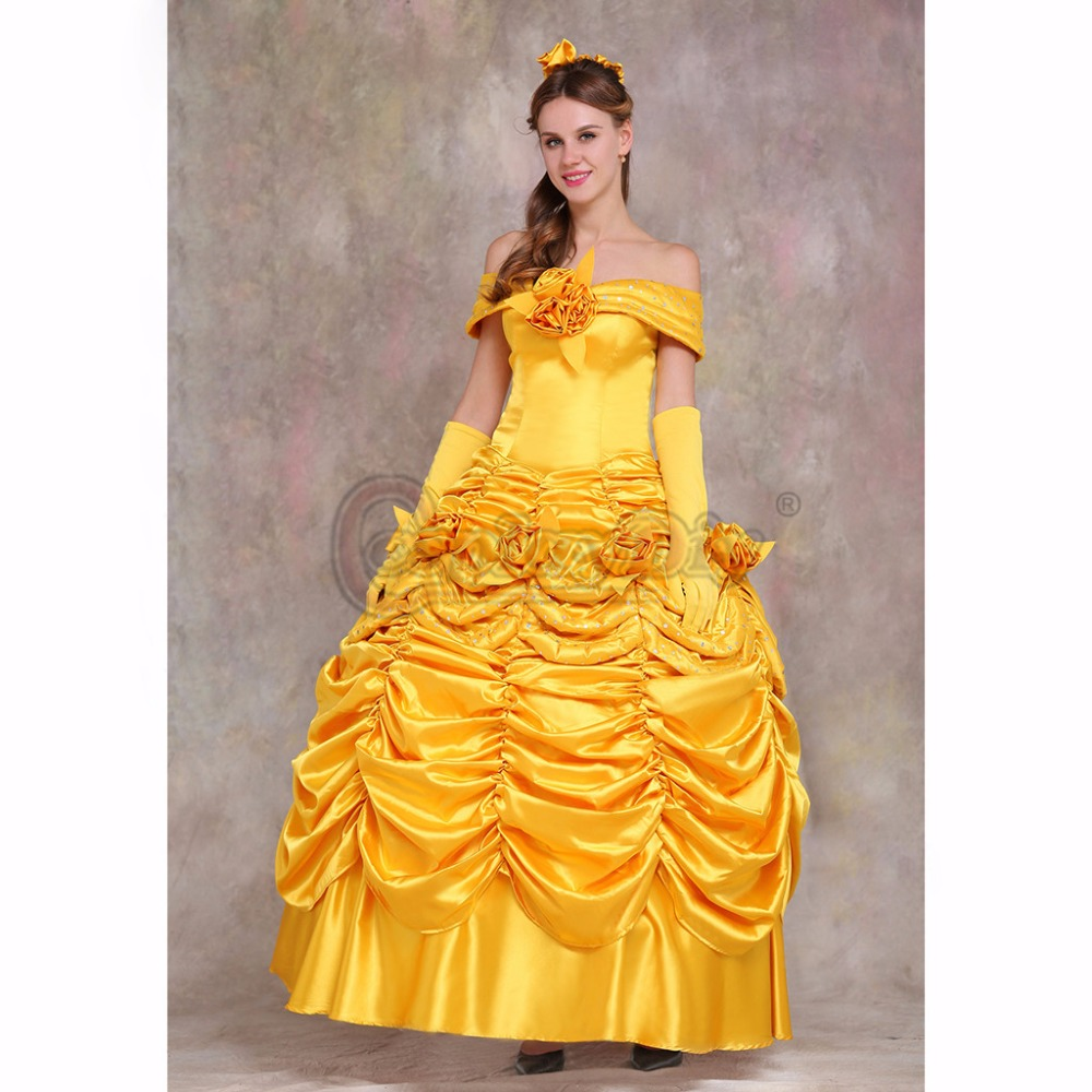 Cosplaydiy Beauty And The Beast Belle Dress Princess Wedding Party Version 1 In Underwear From Mother Kids On Aliexpress