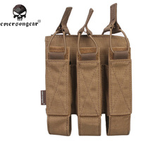 EMERSON Outdoor Hunting Molle Nylon Portable Triple Magazine Pouch Airsoft Military Camouflage Pistol Paintball Accessory Bag