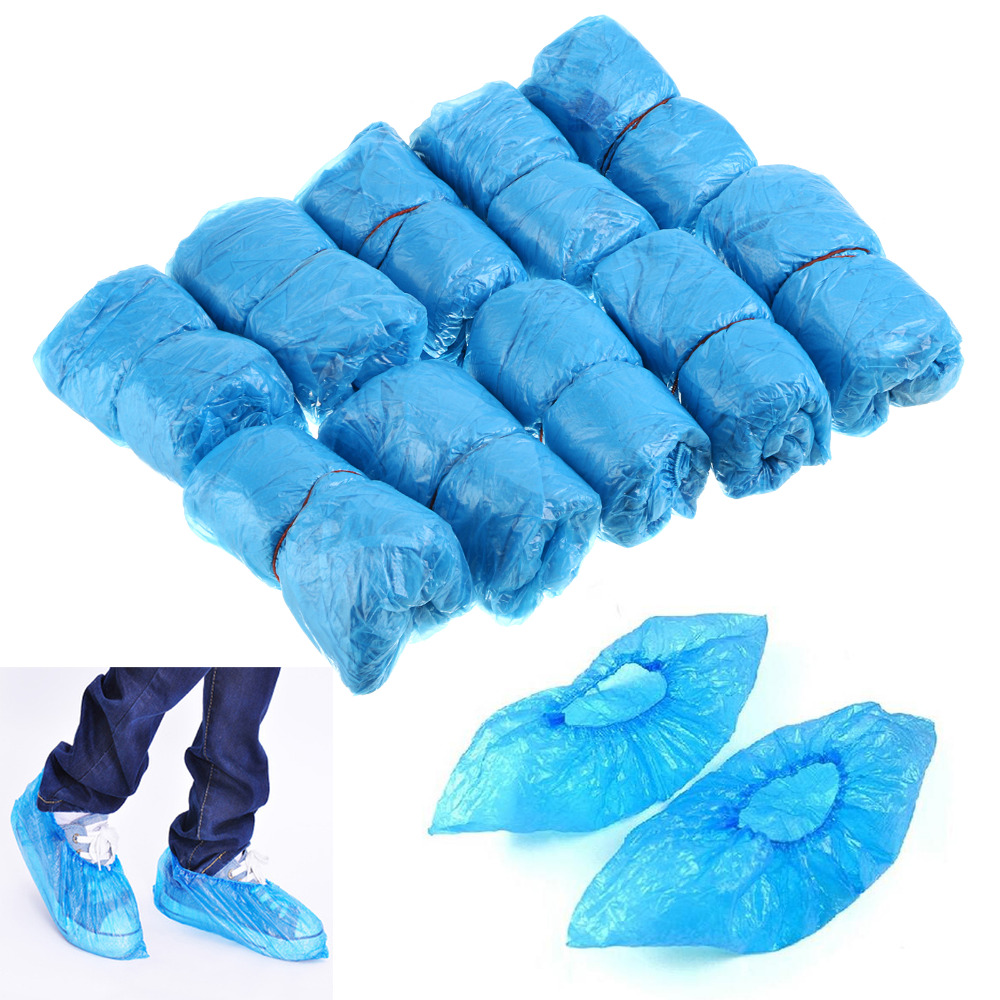 100 Pcs - Disposable Shoe Covers For Medical/Lab Safety