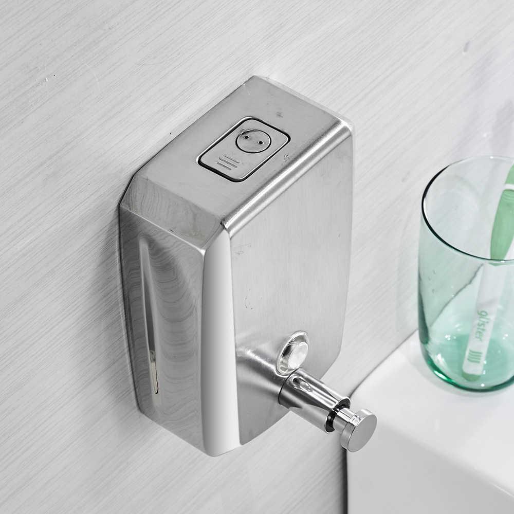 Dozowniki mydła w płynie 500 ml do montażu na ścianie dozownik do mydła nowoczesna łazienka prysznic balsam szampon mydło w płynie dozownik WF-18022