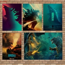 2019Latest Movie Godzilla Poster, Vintage Wall Sticker, Kraft Paper Decorative Poster