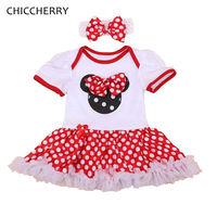 Fantasia Minnie Polka Dots 1 Year Baby Girl Dress For Party Girls Dresses Summer 2016 Vestido