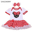 Fantasia Minnie Polka Dots 1 Year Baby Girl Dress for Party Girls Dresses Summer 2016 Vestido Infantil Menina Infant Clothing