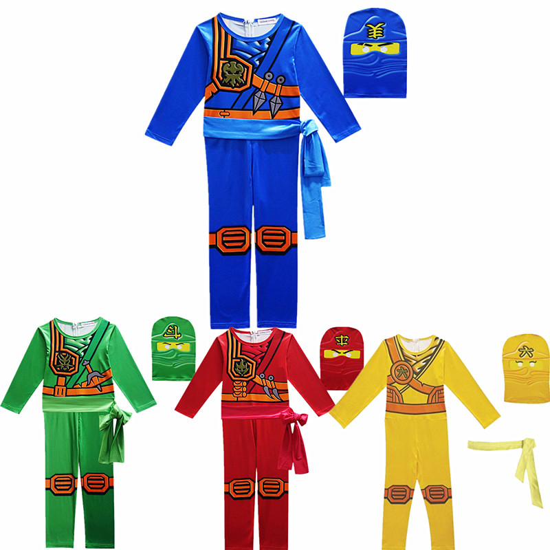Lego ninjago costume role playing anime kids costume naruto tobi costume halloween costume for kids carnavalHeaddress jumpsuit