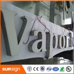 Hot Sale frontlit resin signage led light channel letter