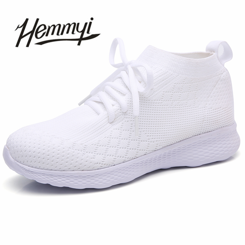 Hot Sale Women Casual Shoes Summer 2018 Fashion Breathable Mesh Light Sneakers Women Platform Black White Red Chaussure Femme 2017 new chaussure homme mens shoes casual leather vulcanize hip hop white men platform summer hot sale breathable black shoes