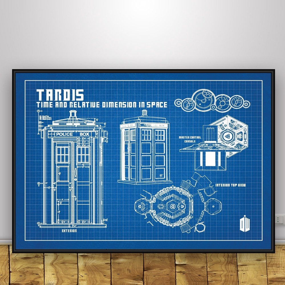 Doctor who tardis blueprint graphic art silk poster home decor in doctor who tardis blueprint graphic art silk poster home decor in painting calligraphy from home garden on aliexpress alibaba group malvernweather Images