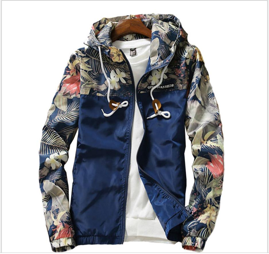 Men's Hooded Jacket coat 2019 Spring Causal jacket men Basic Jackets Coats Zipper Lightweight Jacket   292019