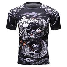 Codylundin hot fitness K2 MMA compression shirt men's anime bodybuilding long-sleeved T-shirt suit Crossfit 3D Superman punishme(China)