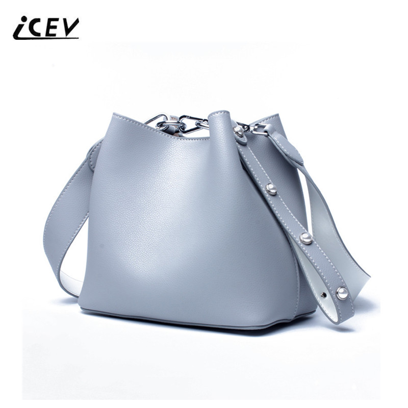 ICEV New Simple String Genuine Leather Designer Handbags High Quality Cow Leather Handbags Fashion Women Leather Handbags Totes icev new brands simple classic female cow leather designer handbags high quality genuine leather handbags women leather handbags