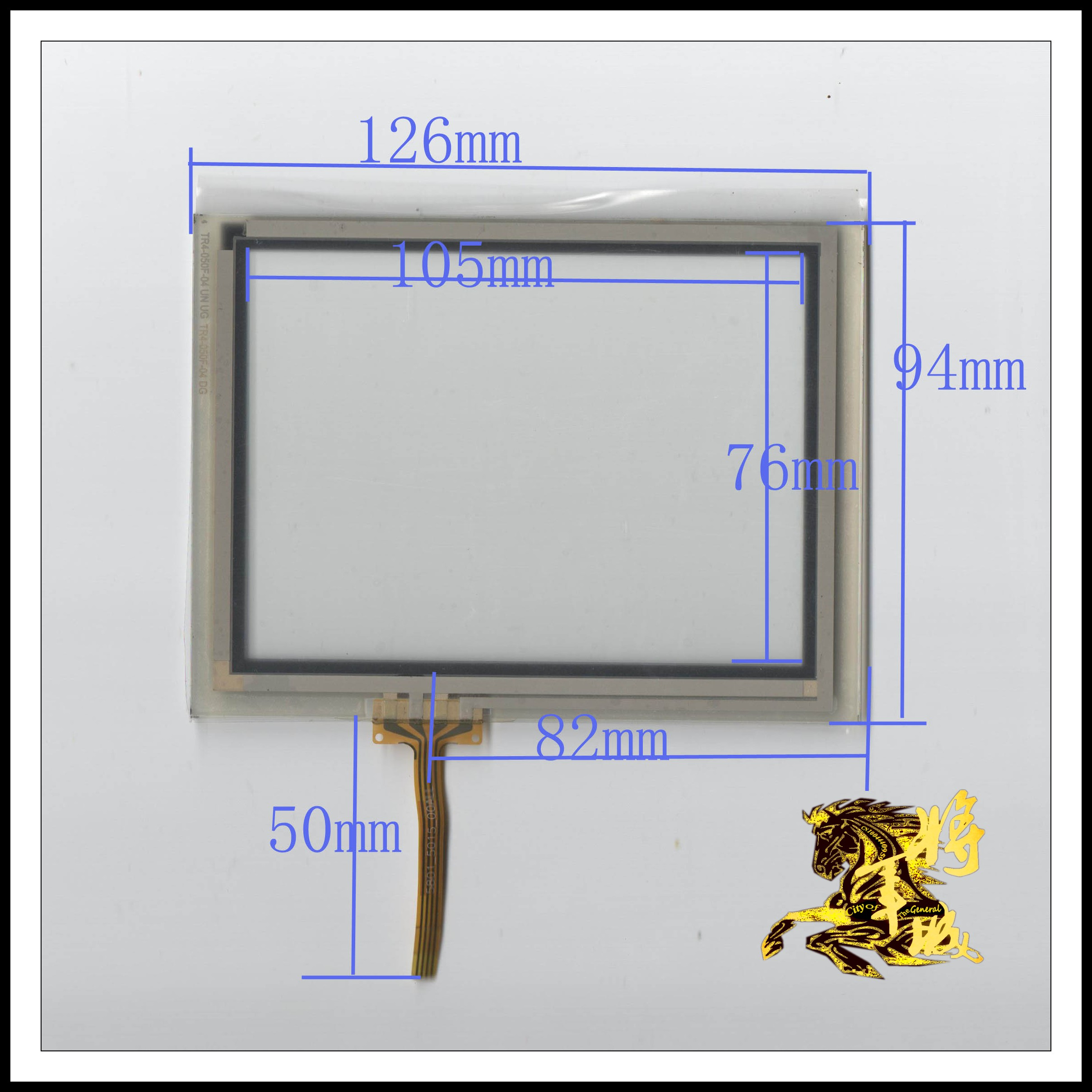 GENCTY For 5-inch four-wire resistive touch screen 126 * 94 W-Y
