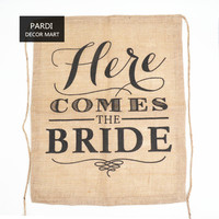 HERE COMES THE BRIDE Wedding Party Banner Bunting 1pc Lot