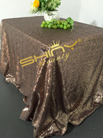 Square 90x156 Inch Chocolate Sequin Tablecloth Luxurious Tablecloth Sparkle Sequin Linens Glitz Dining Table Cover R