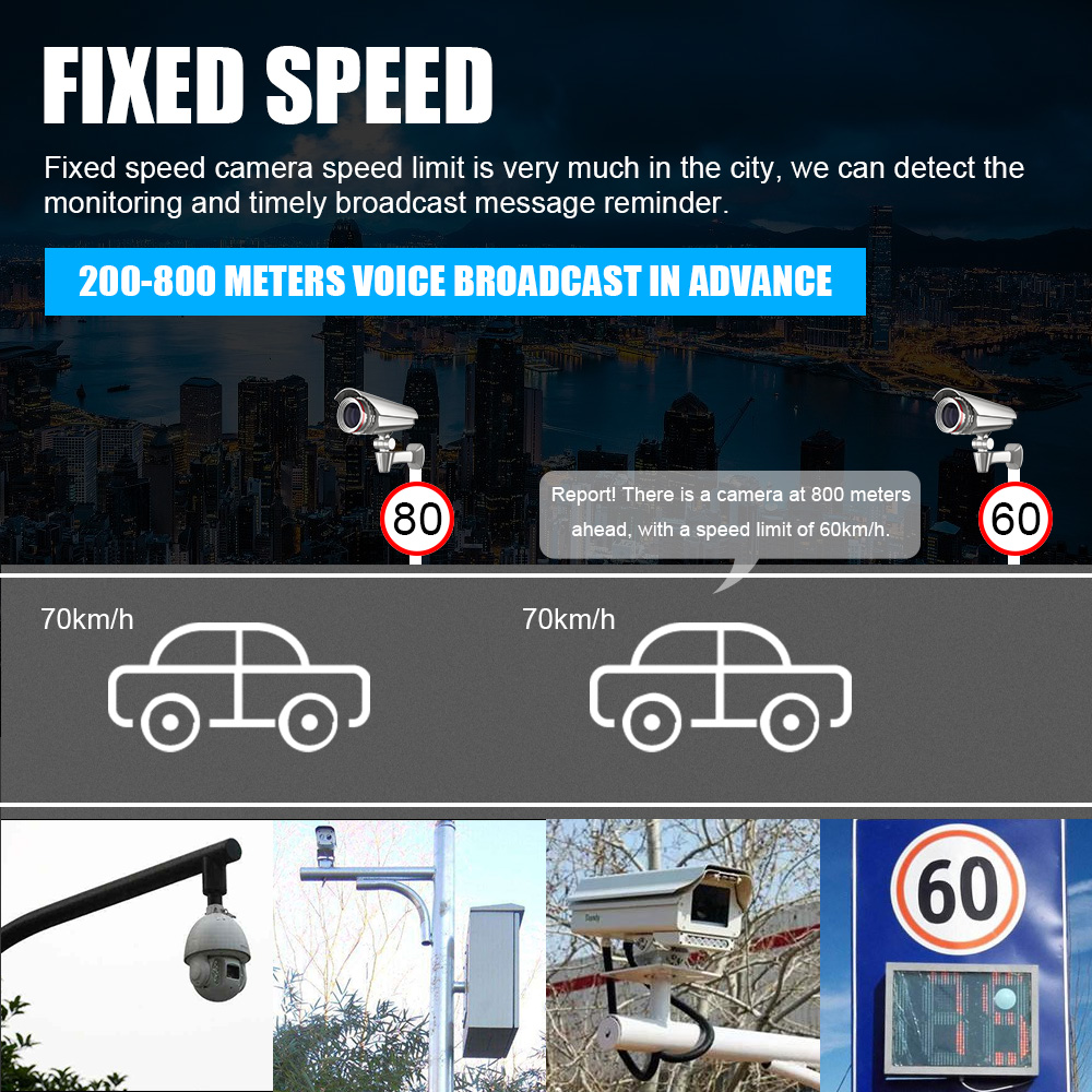 Image 5 - Multi Function Full Band Scanning Car Radar Detector V8 English Russian 360 Degree Voice Warning 16 Band LED Display-in Radar Detectors from Automobiles & Motorcycles