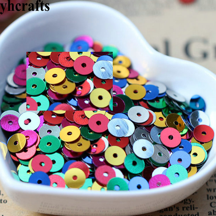 20gram/Lot.Mini 6mm Flat Round Sequins Craft Material Kindergarten Crafts Creative Activity Items Color Learning Make Your Own