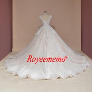Image 4 - Свадебное платье с рукавом крылышком, блестящее Роскошное винтажное свадебное платье