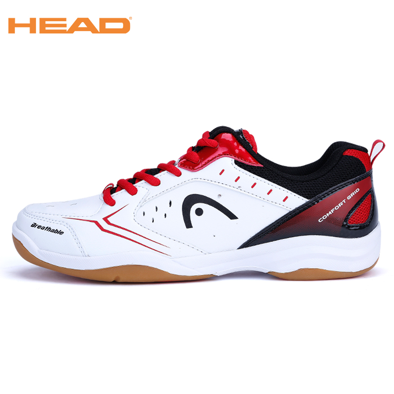 HEAD 2017 Men's Light Lace-up Badminton Shoes for Men Training Breathable Anti-Slippery Tennis Sneakers Professional Sport Shoes image