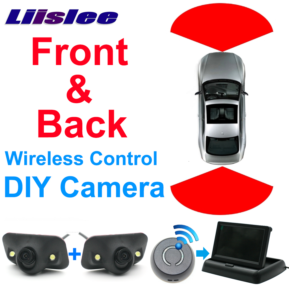 Liislee Car Front & Rear Camera Cigarette Power Variable Channel Blind Spots Invisible Areas Copilot Monitor Camera View System for mazda 2 demio 3 axela 323 familia 6 m6 liislee car side view camera blind spots areas flexible copilot camera monitor system
