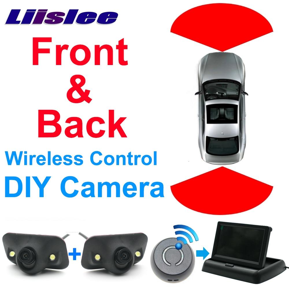 Liislee Car Front & Rear Camera Cigarette Power Variable Canal Puntos - Electrónica del Automóvil