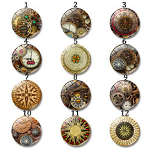 Steampunk Mechanical Watch Glass Cabochon Round 12-30 mm Art Photo Cameo Cabochon Settings Supplies for Jewelry Accessories