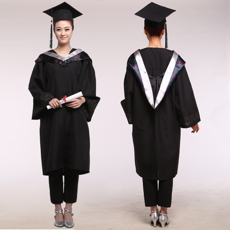 Girl Robes Academic Graduation Gowns Dress for Women University Graduation Clothing & Apparel  Bachelor Costume and Cap 89 gown