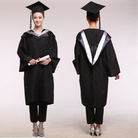 Girl Robes Academic Graduation Gowns Dress for Women University Graduation Clothing & Apparel Bachelor Costume and Cap 89