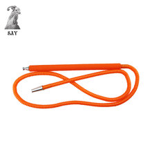 SY 1set Orange Hookah Shisha Hose Alloy Handle Connector Smoking Accessories For Sponge Wrapped Water