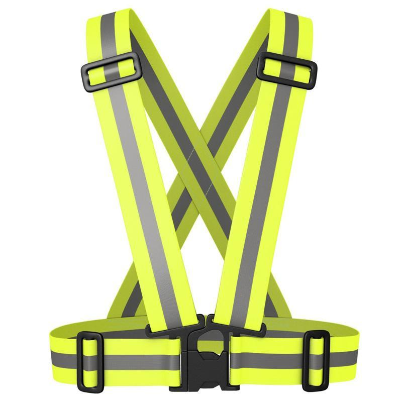Traffic reflective vest elastic cycling straps safety clothing bright reflective safety vest at night jogging safety clothing high quality chinese traffic reflective safety vest safety waistcoat sanitation reflective clothing working vest