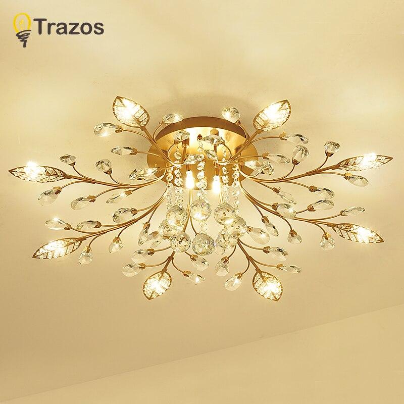 TRAZOS Neue artikel phantasie decke licht LED Kristall decken lampe moderne lampen für wohnzimmer lichter, AC110-240V DIY Kristall beleuchtung