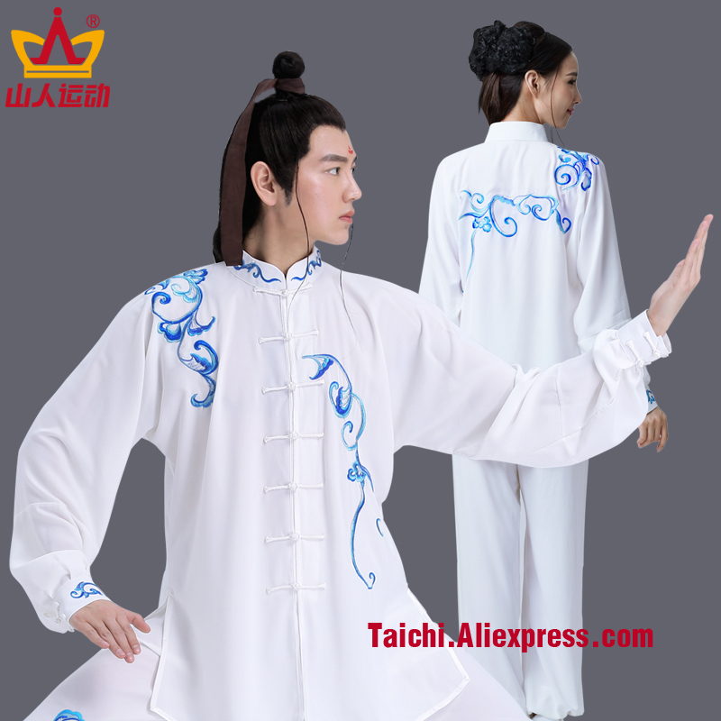 Summer Tai Chi Clothing Embroidery Boxing Practice Serve Embroidered Woman And Men Performance Martial Art Serve