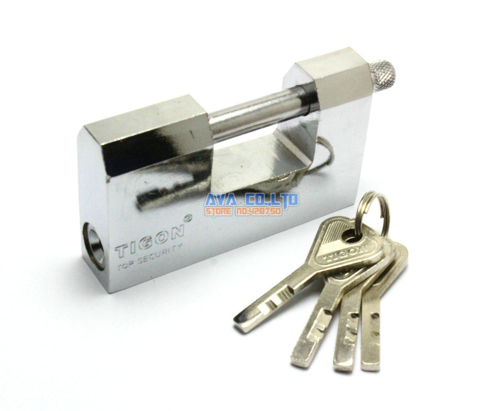Warehouse Door 90mm Security Lock Padlock w 4 Pcs Keys t handle vending machine pop up tubular cylinder lock w 3 keys vendo vending machine lock serving coffee drink and so on